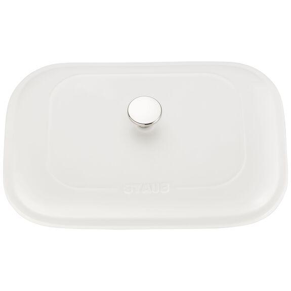 """12"""" x 8"""" Rectangular Covered Baking Dish, Matte White, , large 4"""