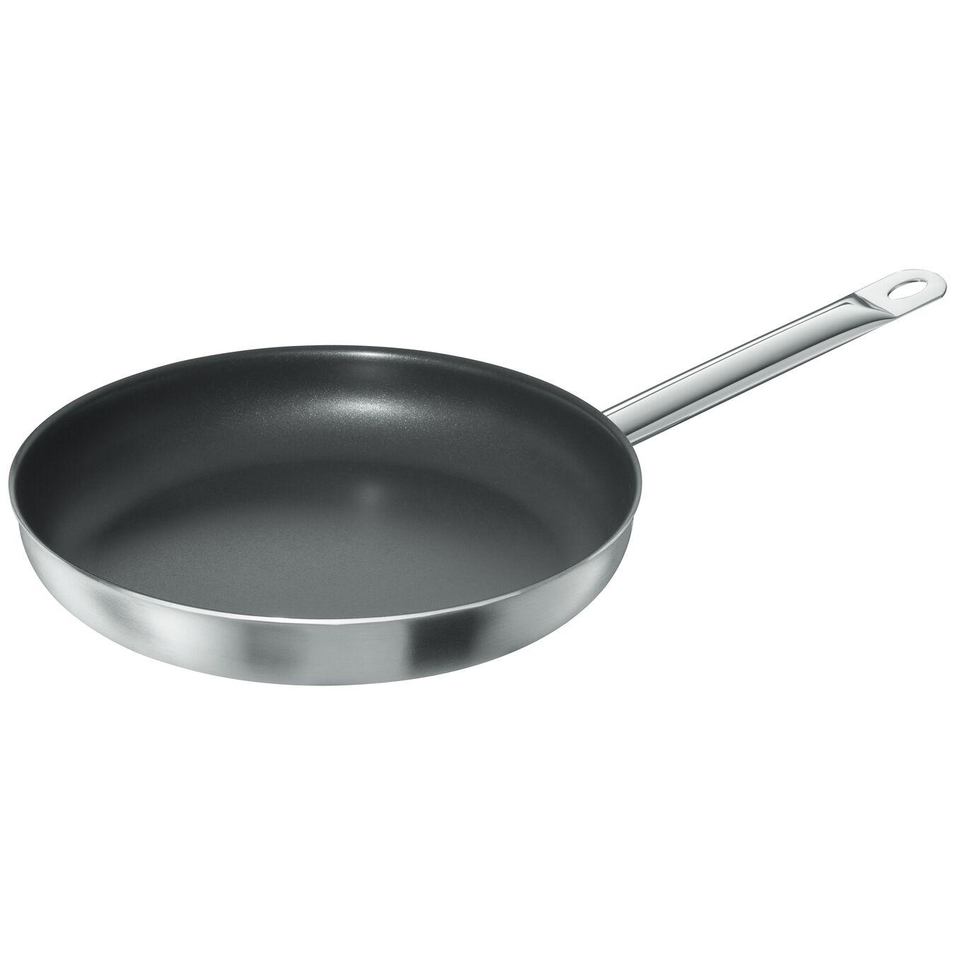 Poêle 32 cm, Inox 18/10, Noir argenté,,large 1
