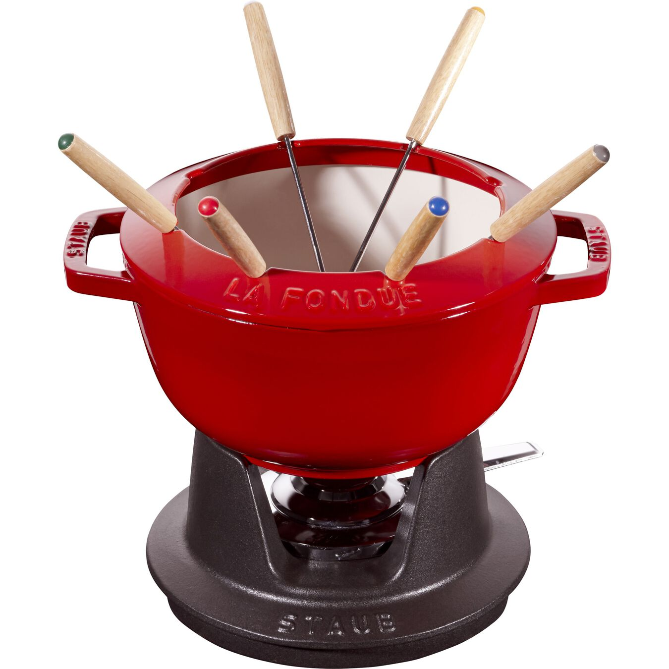 Conjunto para fondue 20 cm, Vermelho cereja,,large 1