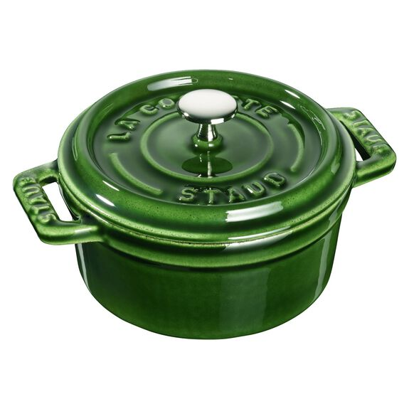 10-cm-/-4-inch round Mini Cocotte, Basil-Green,,large 2