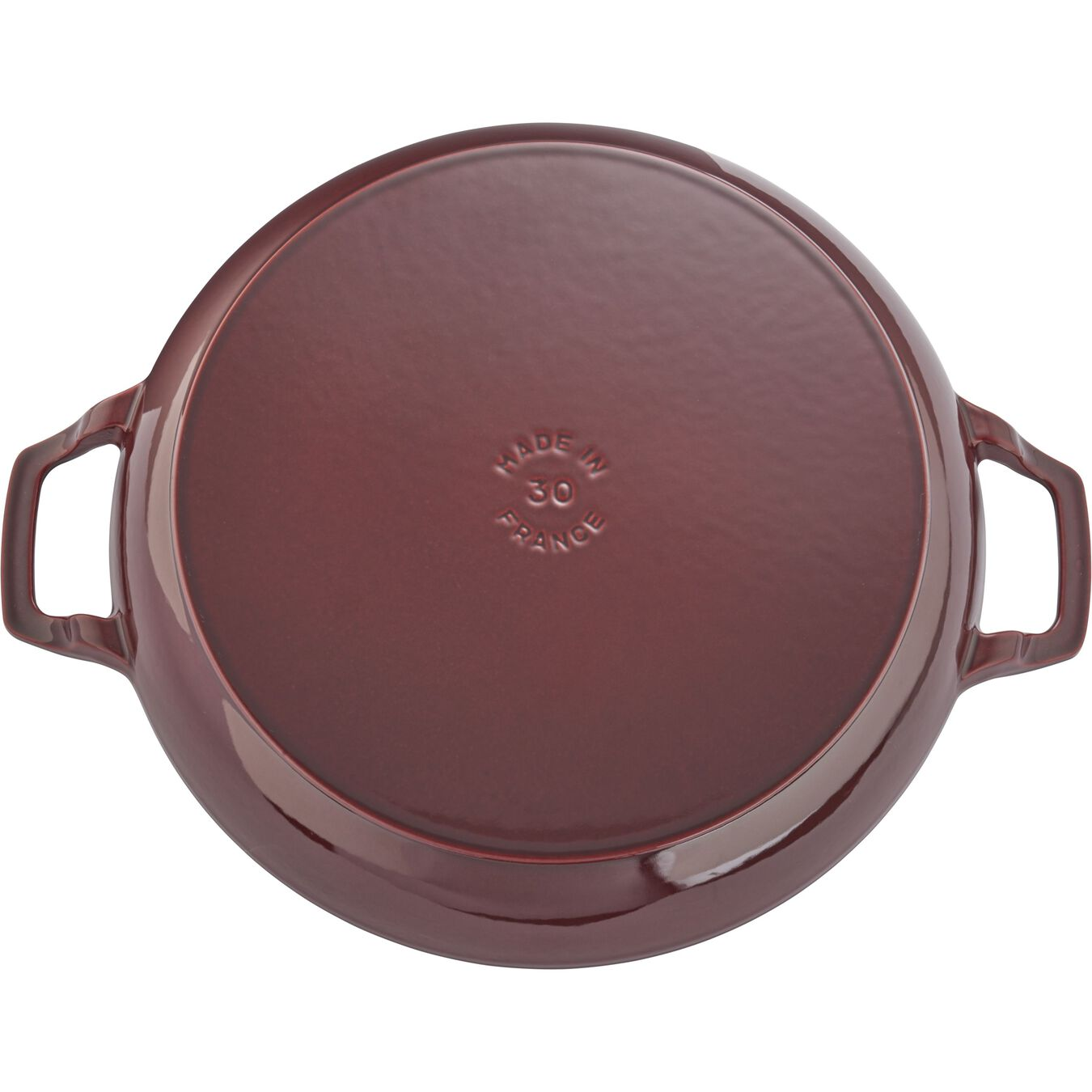 12-inch, Braiser with Glass Lid, grenadine,,large 3