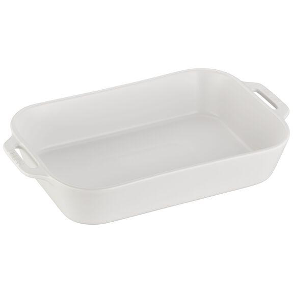 """13x9"""" Rectangular Baking Dish, Matte White, , large"""