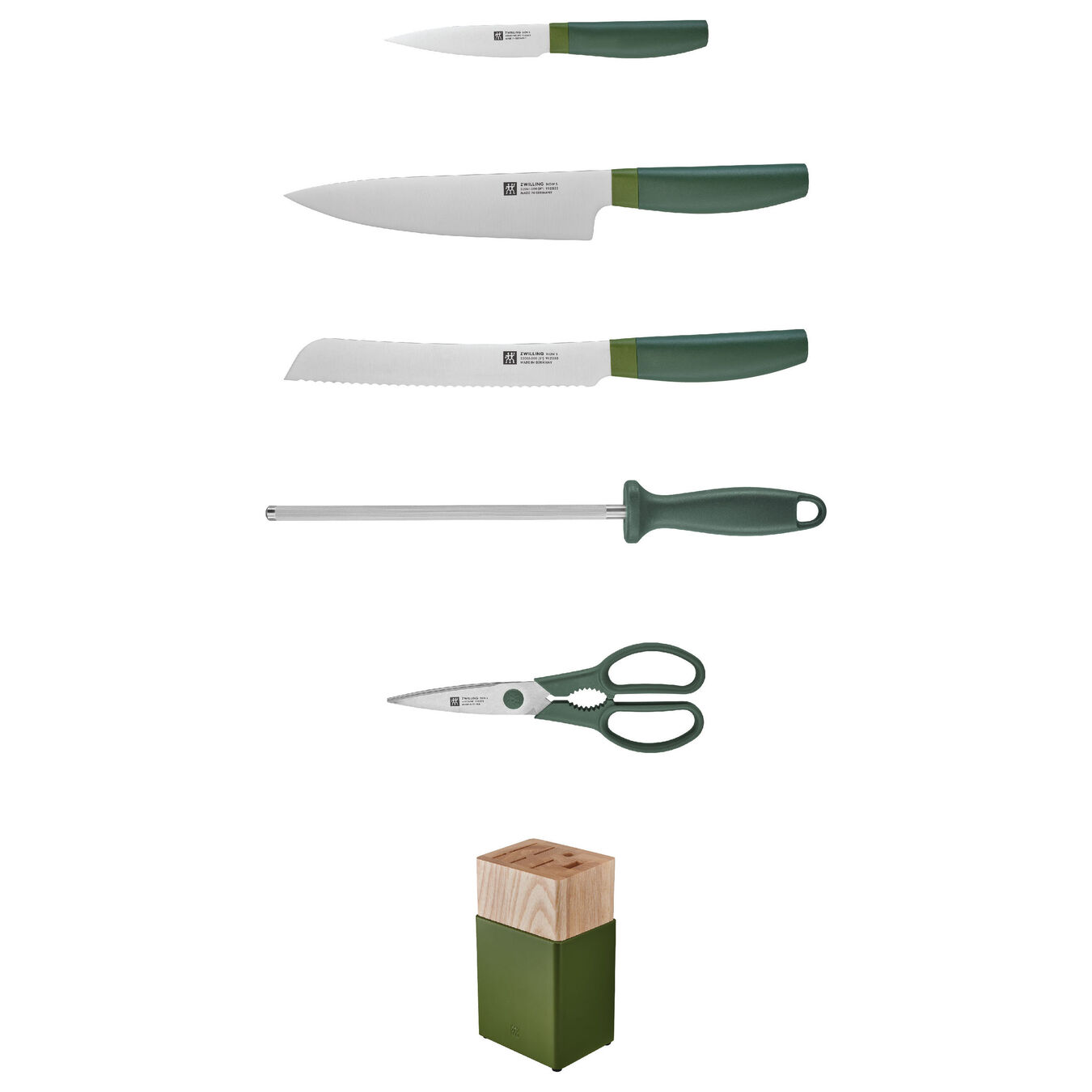 6-pc Knife Block Set - Lime Green,,large 2