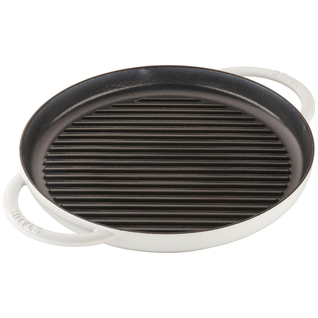 12-inch Round Steam Grill - White,,large 3