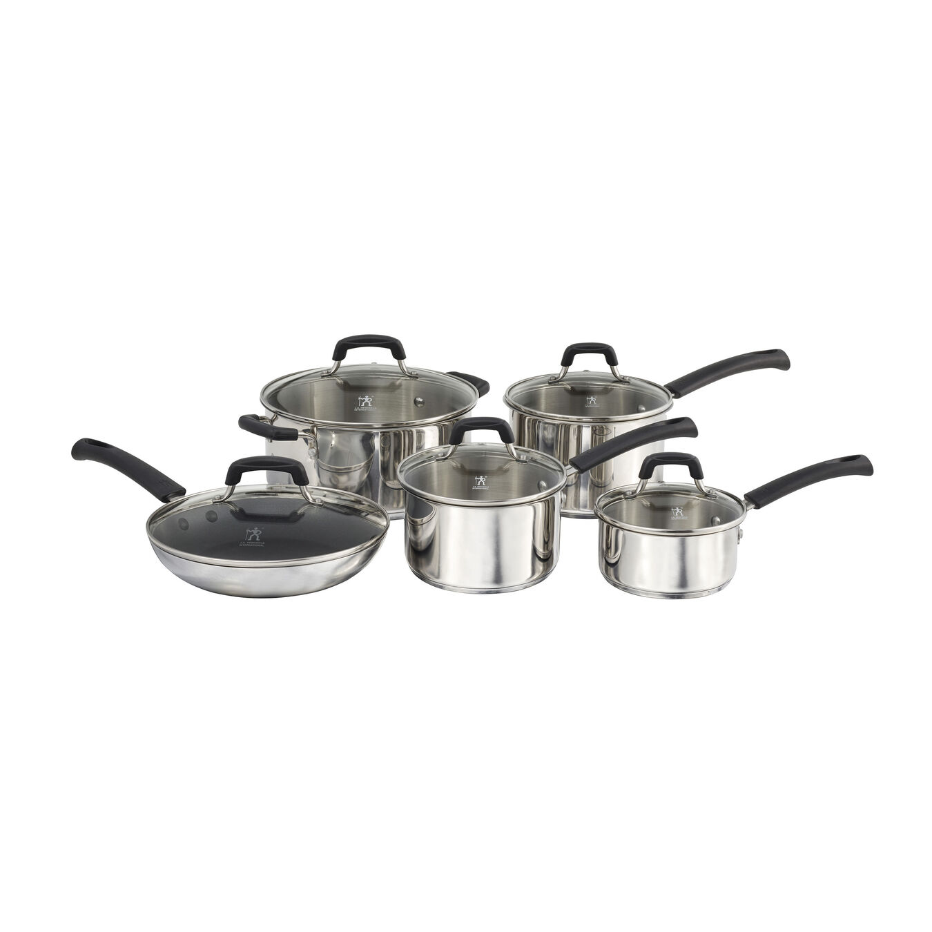 10 Piece Stainless steel Cookware set,,large 1