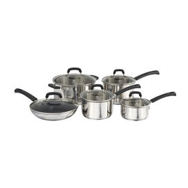 Henckels Kitchen Elements, 10-pcs Stainless steel Ensemble de casseroles et poêles