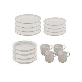Staub Dining Line, Set de service, 16-pcs | White Truffle | Ceramic | Ceramic