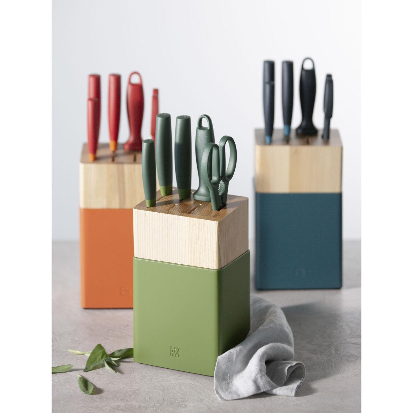 8-pc, Knife block set, lime green,,large 4