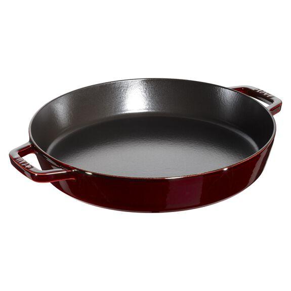 33-cm-/-13.5-inch round Enamel Paella pan, Grenadine-Red,,large