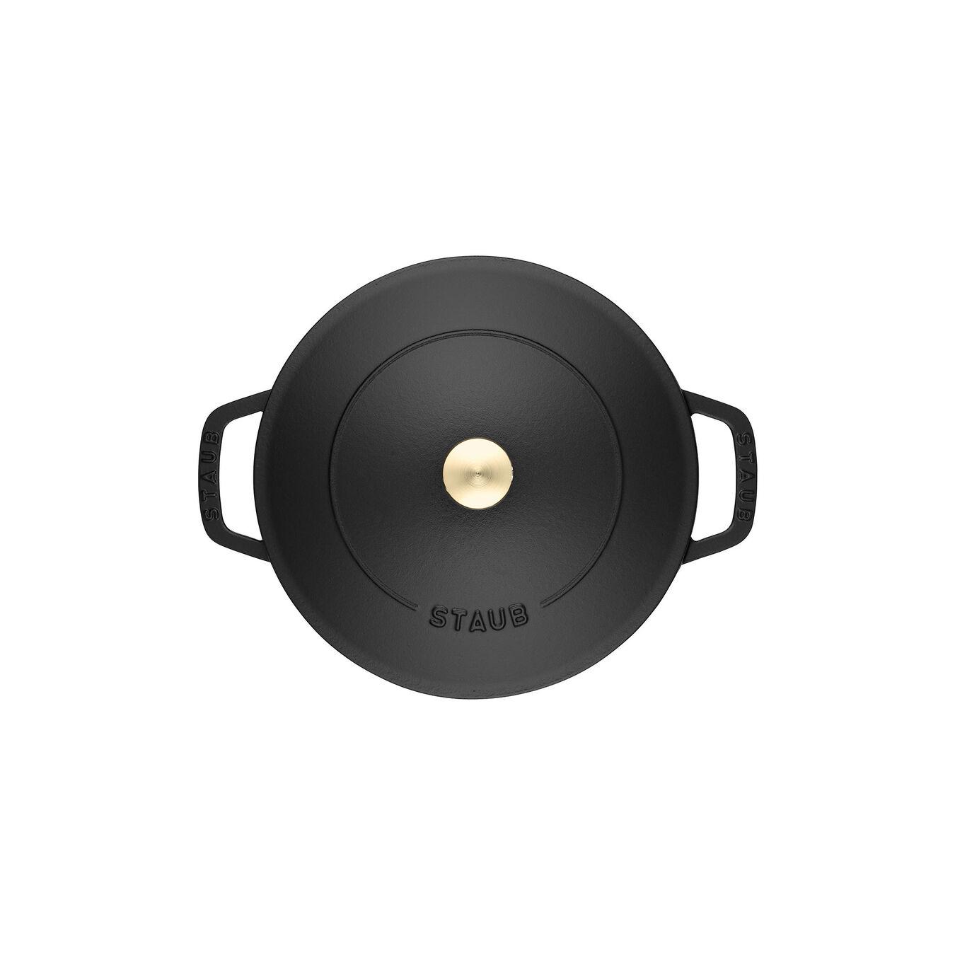 3.7 l Cast iron round Saute pan Chistera, black,,large 5