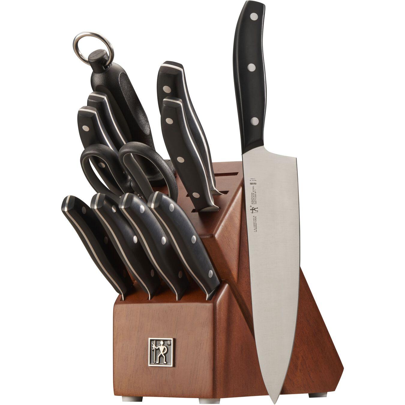 12-pc, Knife block set, black matte,,large 2