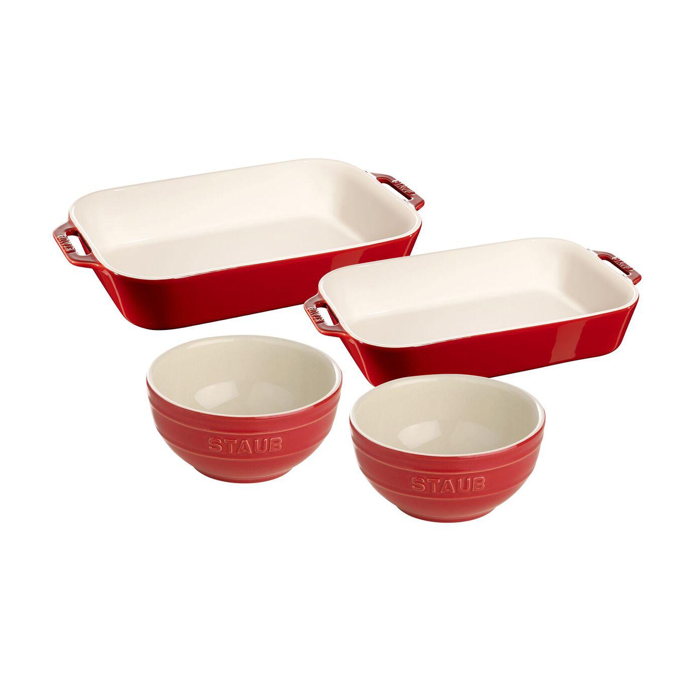 4 Piece Bakeware set, cherry,,large 1