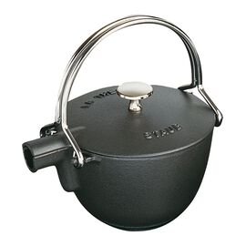 Staub Cast Iron, 1-qt Round Tea Kettle - Matte Black