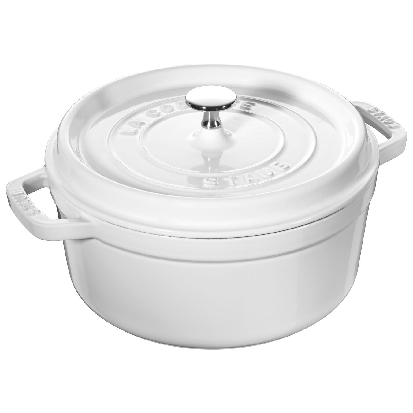 4-qt round cocotte - white - visual imperfections,,large 1