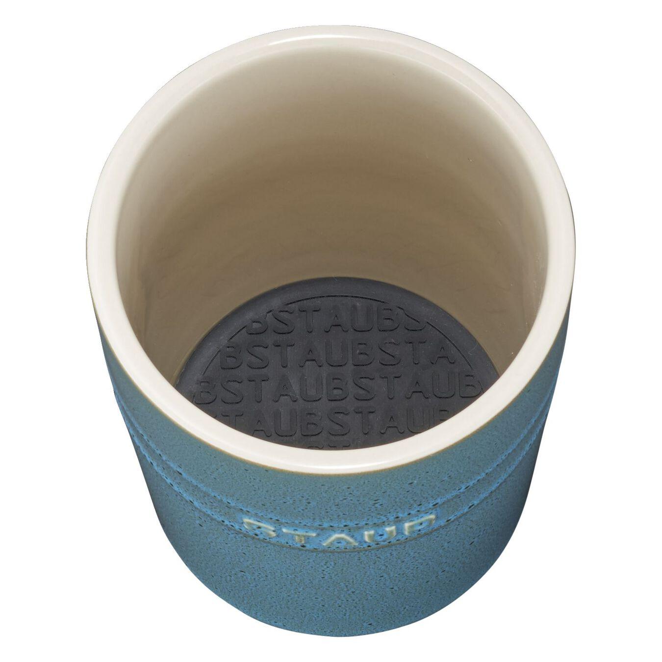 Utensil holder, rustic turquoise,,large 3