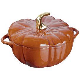 Staub Cast Iron - Specialty Shaped Cocottes, 3.5 qt, pumpkin, Cocotte, burnt orange