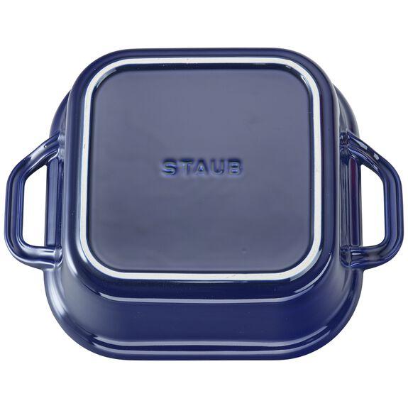 Ceramic Square Covered Baking Dish, Dark Blue,,large 4