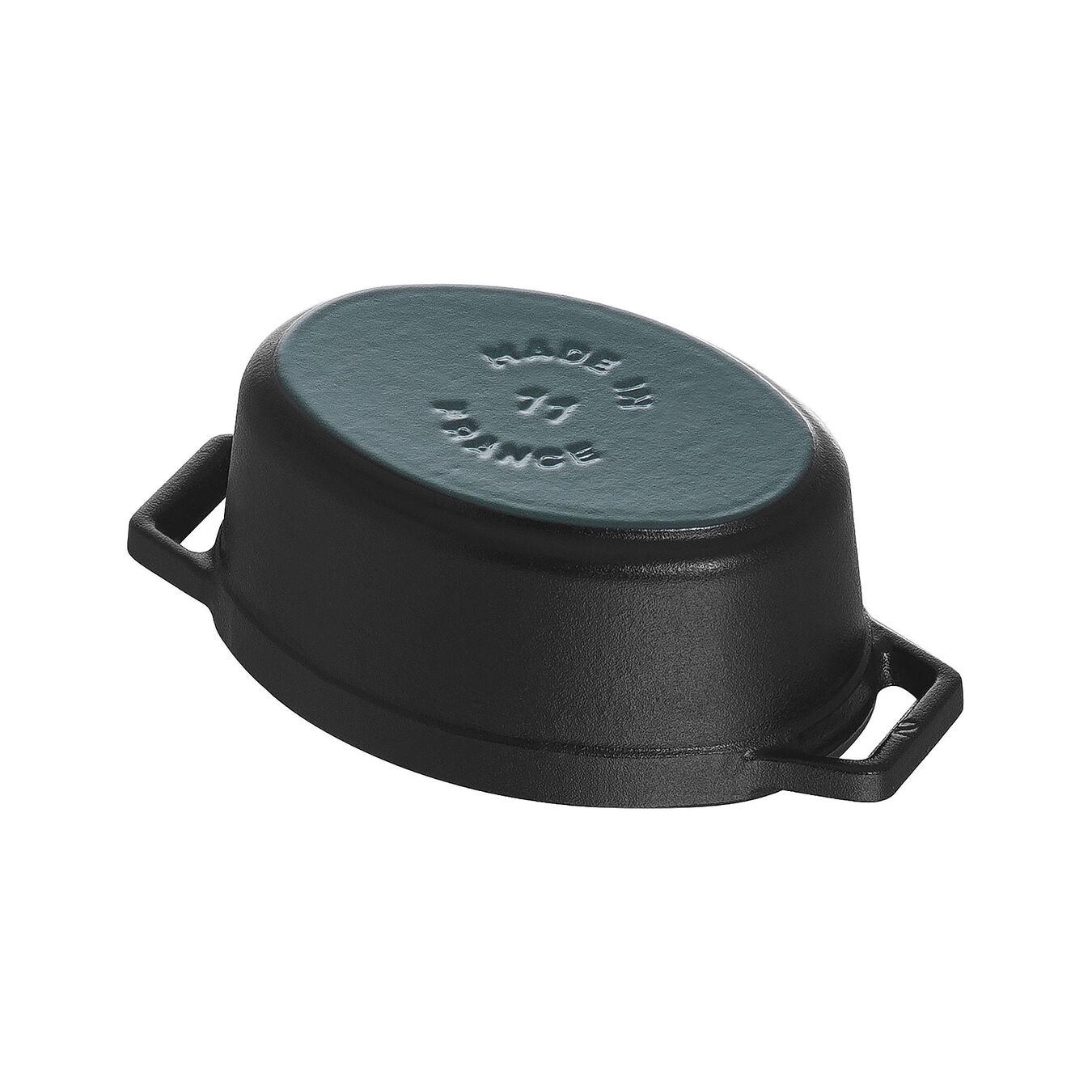 Mini cocotte ovale - 11 cm, nero,,large 5