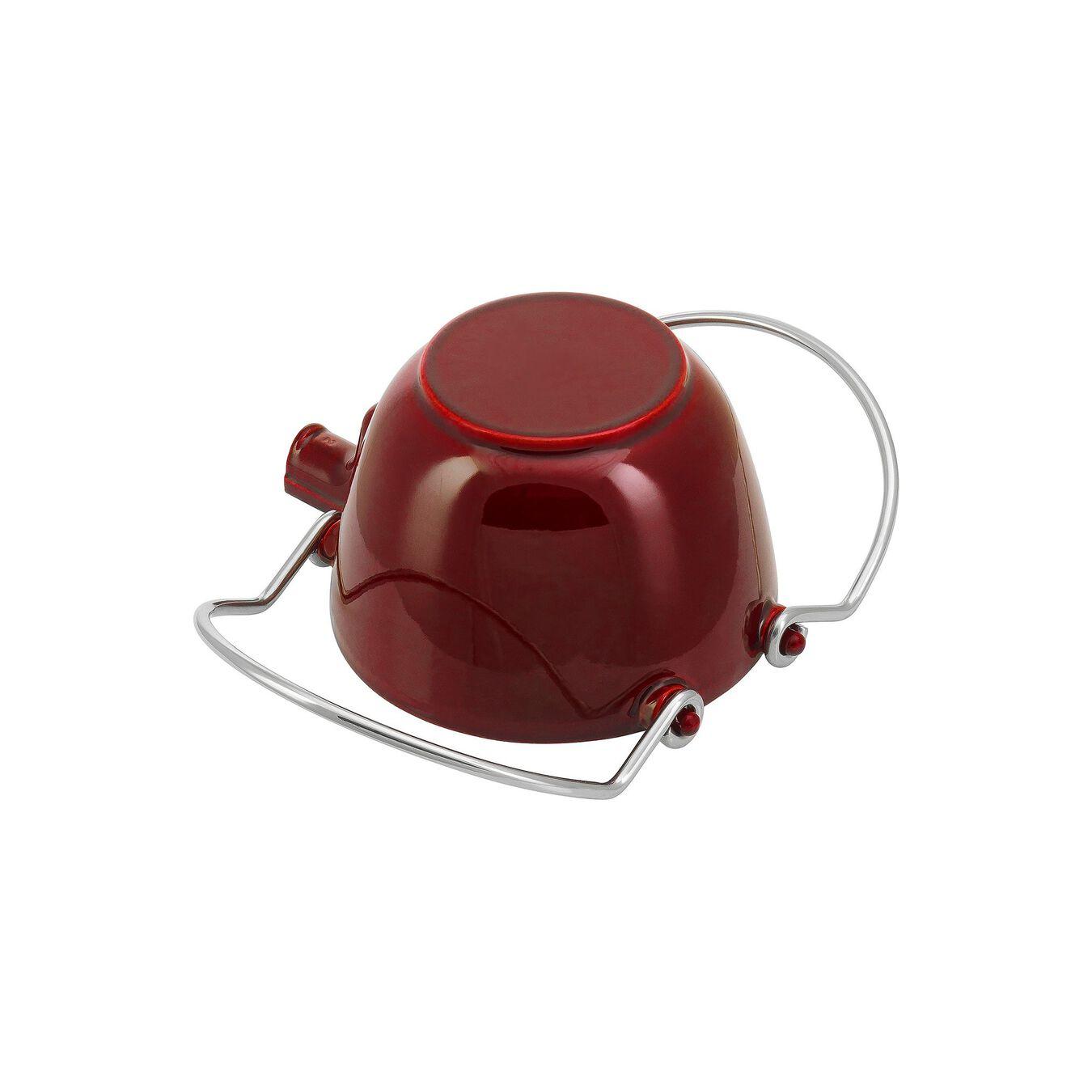 1.25 l Cast iron Tea pot, Grenadine-Red,,large 6