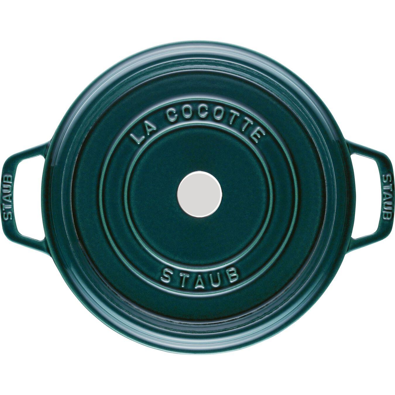 Cocotte en fonte 28 cm / 6,75 l, Rond, Blue La-Mer,,large 3