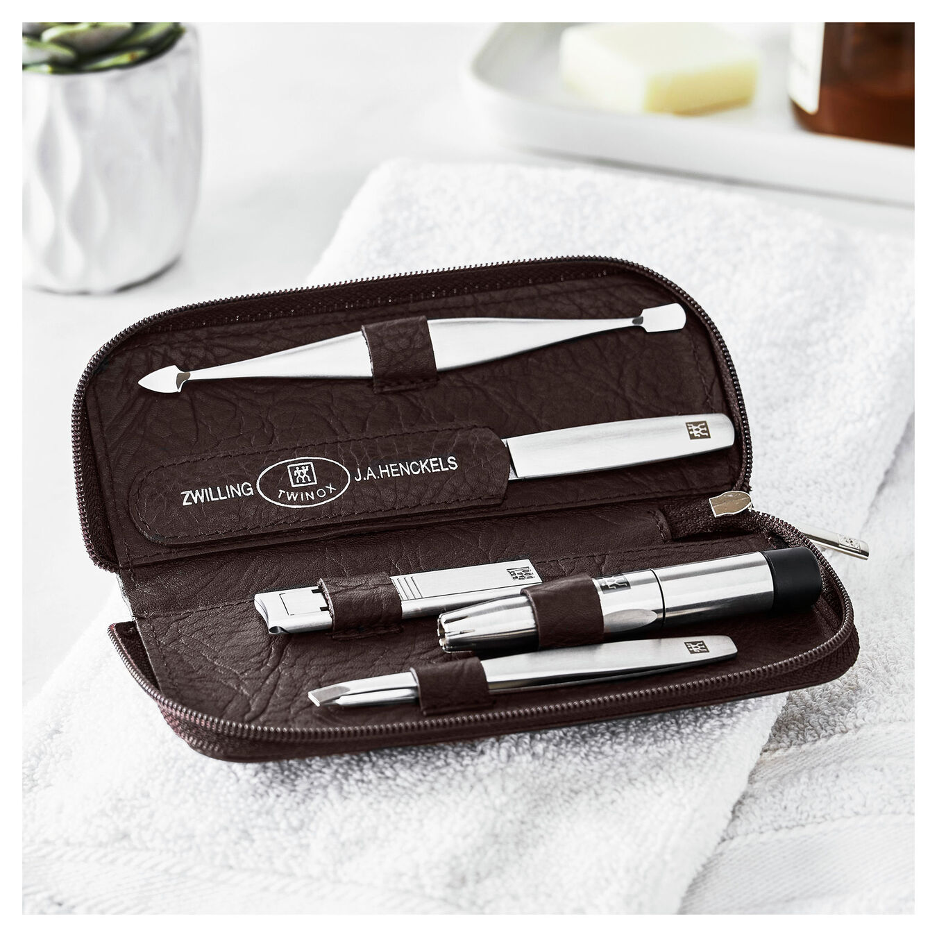 6-pc, Zip fastener case,,large 2