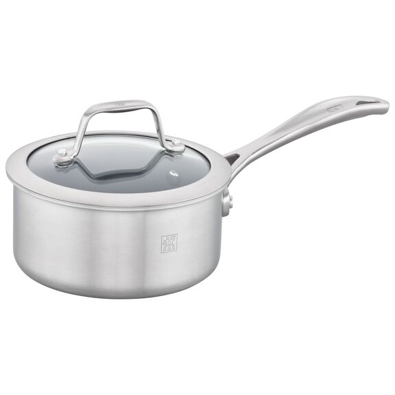 3-ply 1-qt Stainless Steel Ceramic Nonstick Saucepan,,large