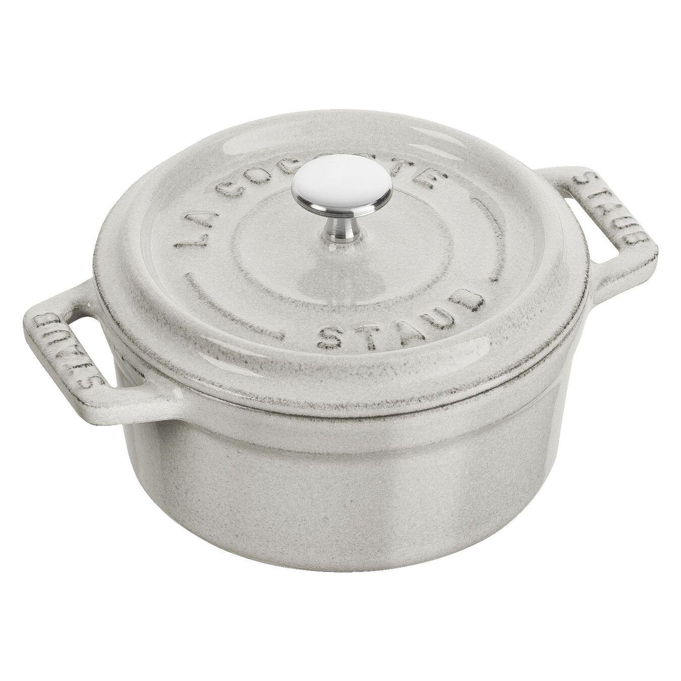 250 ml Cast iron round Mini Cocotte, White Truffle,,large 1