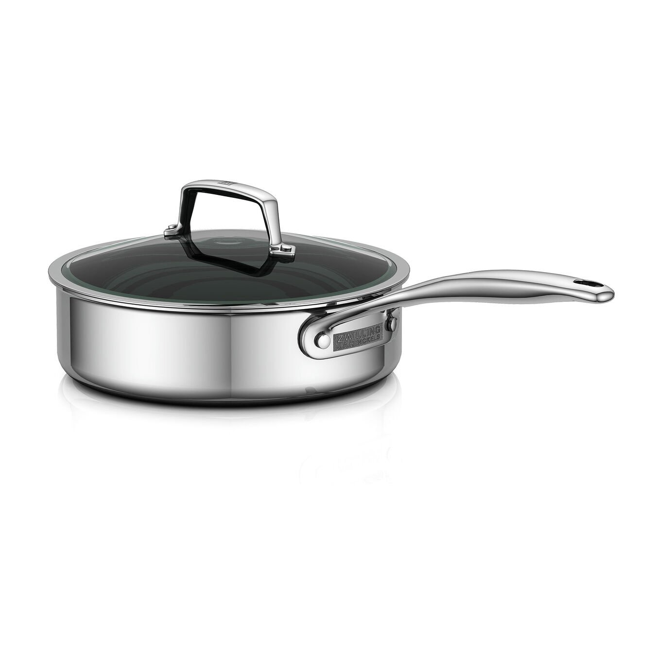 3-Ply 3-qt Stainless Steel Saute Pan w/Lid,,large 1
