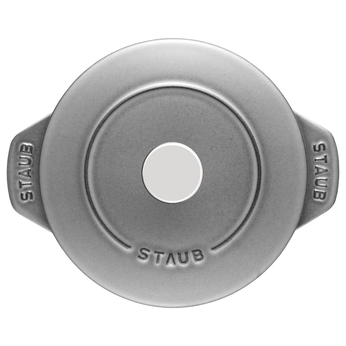 Reis-Cocotte 16 cm, rund, Graphit-Grau, Gusseisen,,large 2