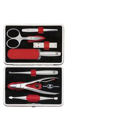 ZWILLING TWINOX, Snap fastener case, 7 Piece | calf leather | red