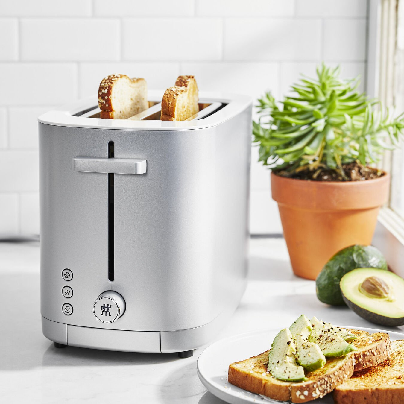Toaster, 2 short  slots | Silver | US/CA,,large 6
