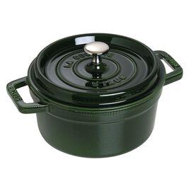 Staub Cast Iron, 2.75-qt Round Cocotte - Basil