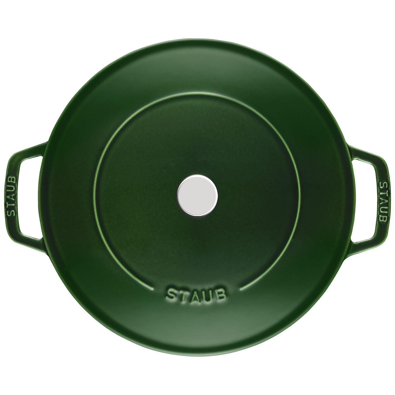 2.5 l Cast iron round Saute pan Chistera, Basil-Green,,large 2