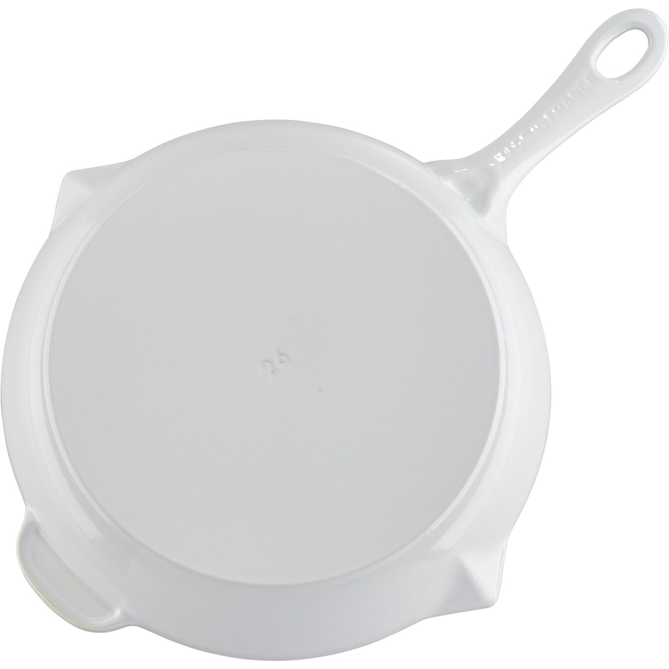 10-inch, Frying pan, white,,large 4