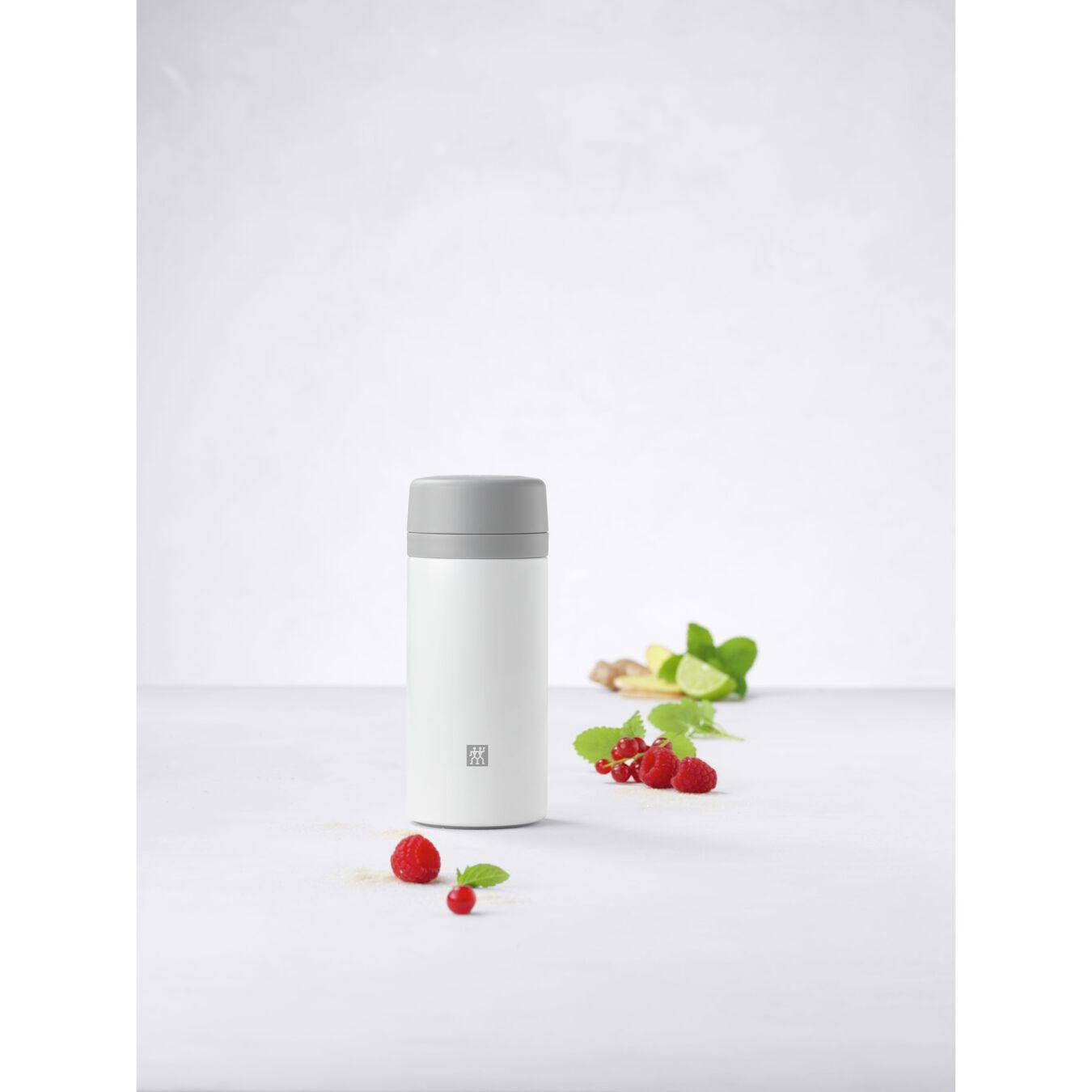 Thermos - 420 ml, acciaio inox, bianco,,large 6