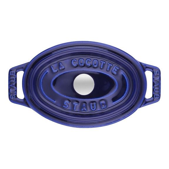 Mini Döküm Tencere, 11 cm | Koyu Mavi | Oval | Döküm Demir,,large 2