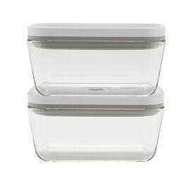 ZWILLING Fresh & Save, 2 Piece Vacuum box set, glass, grey