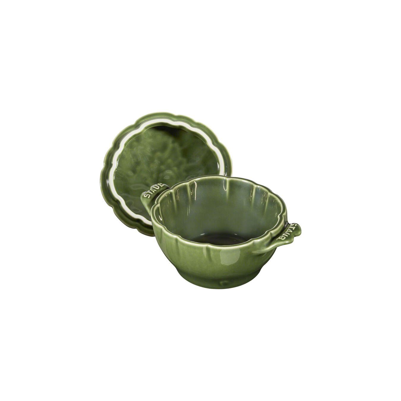 Cocotte 13 cm, Artischocke, Basilikum-Grün, Keramik,,large 13