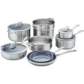ZWILLING Spirit Ceramic Nonstick, 3-ply 12-pc Stainless Steel Ceramic Nonstick Cookware Set