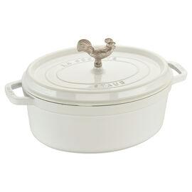 Staub Cast Iron, 5.75-qt oval Cocotte, White
