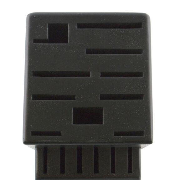 Rubberwood Black 16-slot block,,large 3
