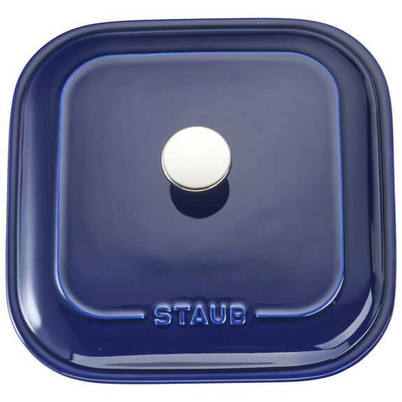 Ceramic Square Covered Baking Dish, Dark Blue,,large 5