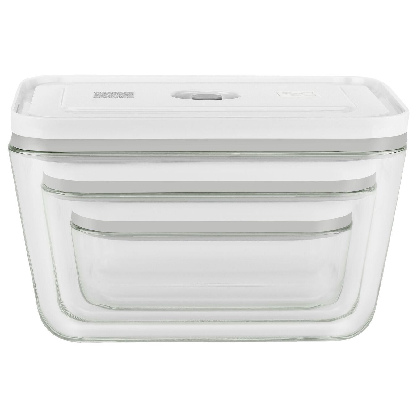 Vakuum Boxset, S/M/L / 3-tlg, Borosilikatglas, Weiß,,large 2