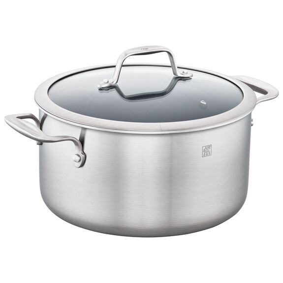 3-ply 6-qt Stainless Steel Ceramic Nonstick Dutch Oven,,large