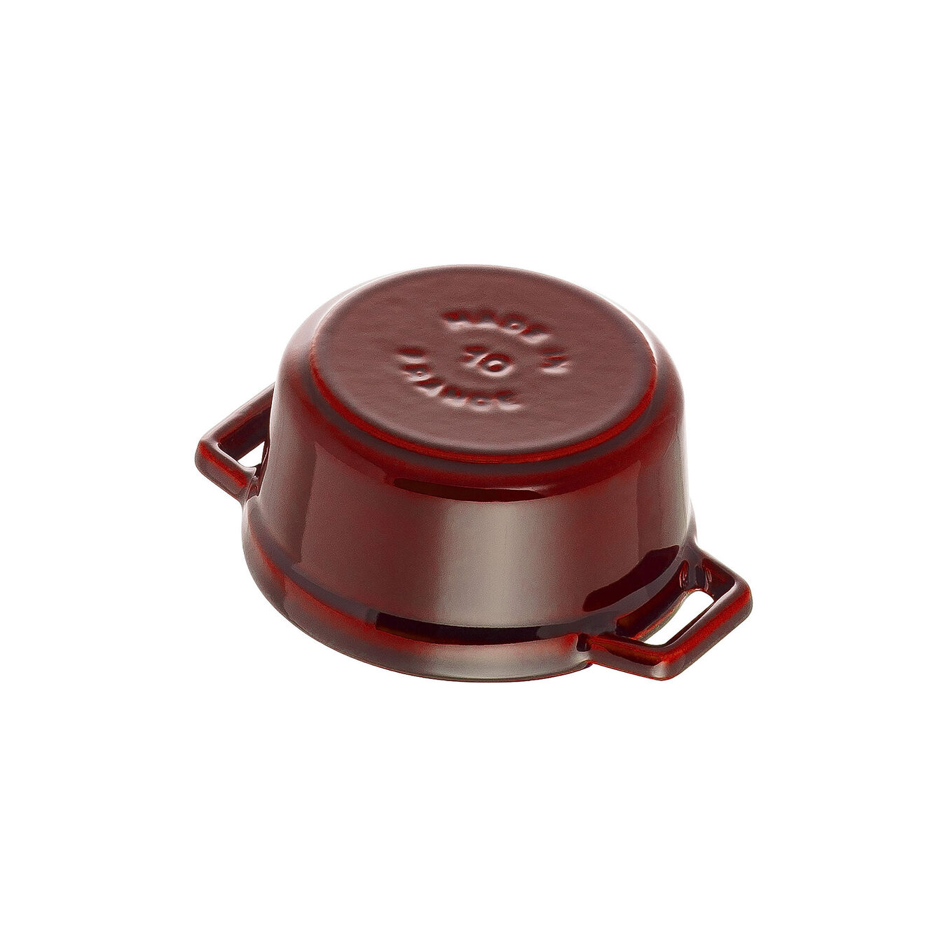 250 ml Cast iron round Mini Cocotte, grenadine-red,,large 4