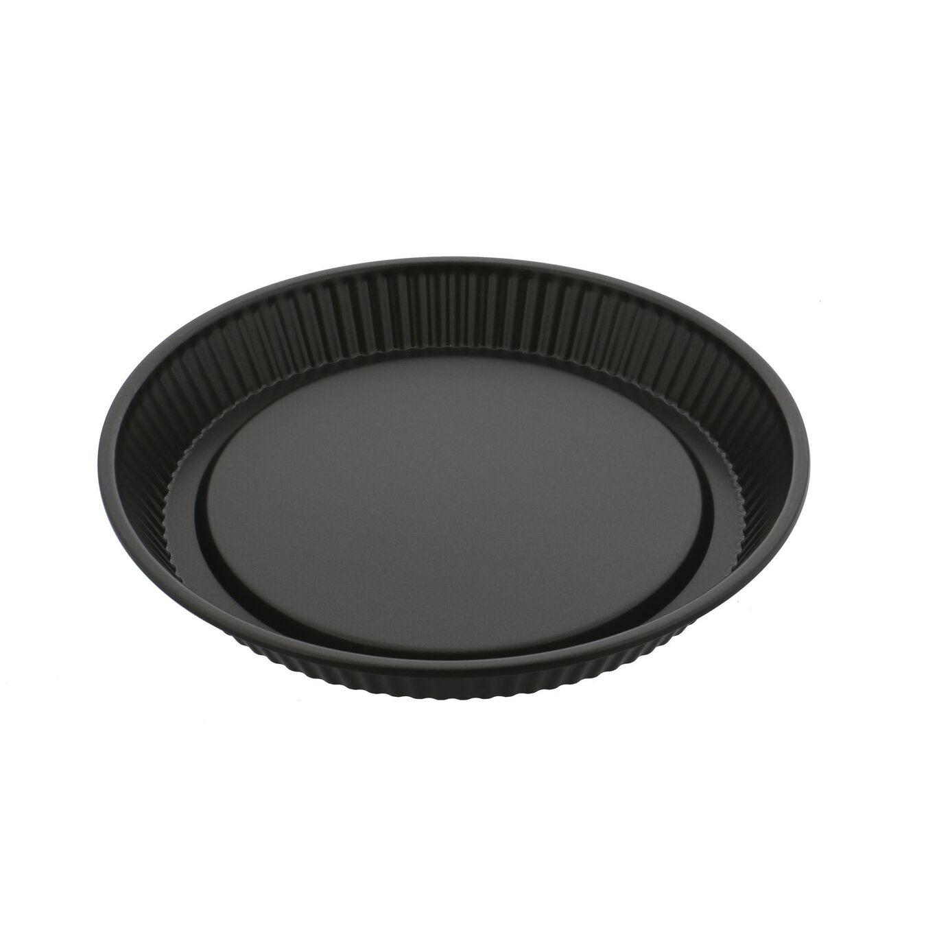 11-inch, Flan/Tart Pan Nonstick, black matte,,large 1