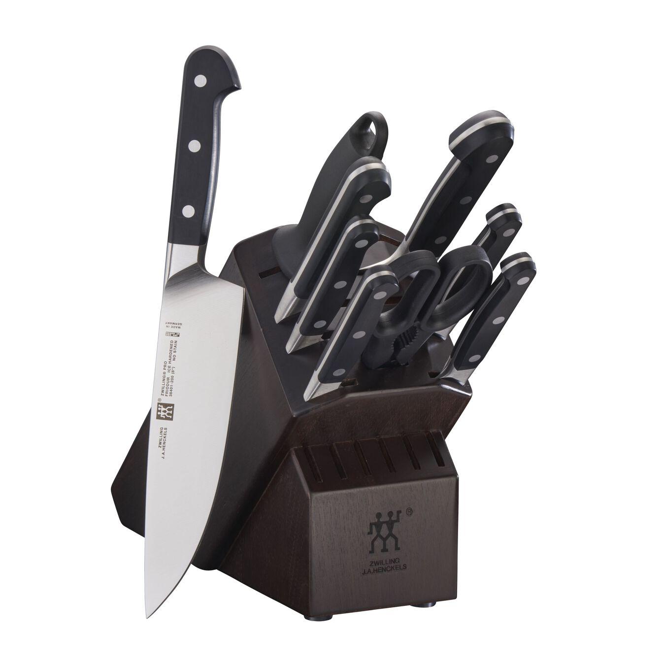 10-pc Knife Block Set - Walnut,,large 1