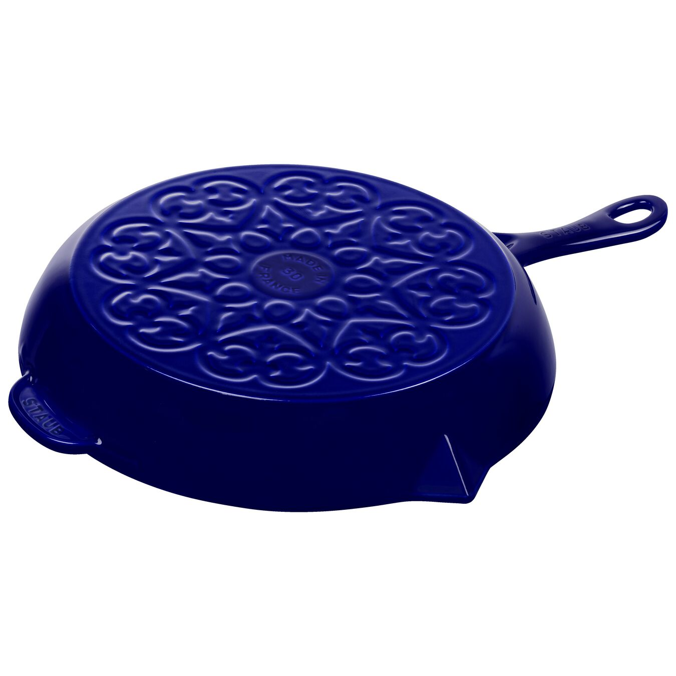 30 cm / 12 inch Frying pan, lily decal, dark-blue,,large 2