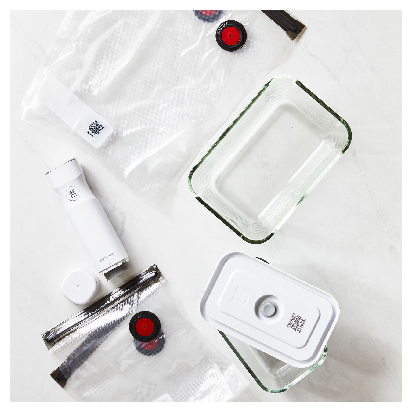 medium/large / 7-pc Vacuum starter set, Borosilicate glass ,,large 5