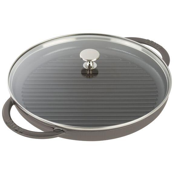 12-inch Round Steam Grill - Graphite Grey,,large